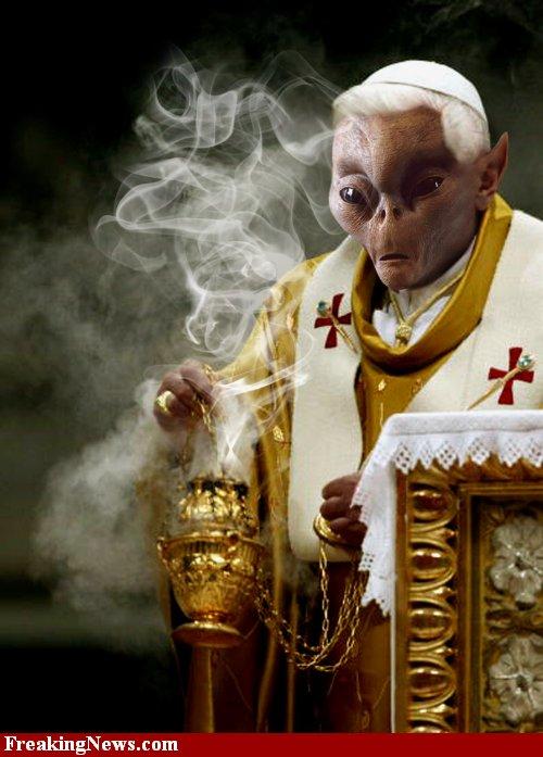 Conte de Noël Alien-pope