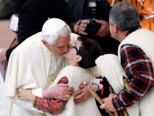 Pope Benedict Shielded From Gay Kiss-In