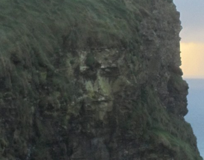 Tourist 'snaps Jesus' in a famous cliff face